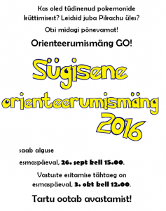 orient mäng 2016